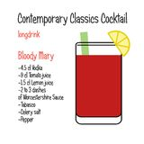 Bloody Mary Vector Contemporary Classic Cocktail Recipe Royalty Free Stock Photography