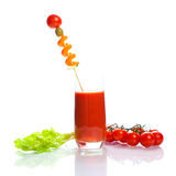 Bloody Mary - vegetable juice Stock Images