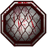 Bloody MMA Octagon Sign. Stock Photos