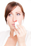 Bloody nose Stock Photography