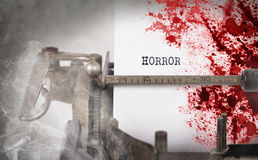 Bloody note - Vintage inscription made by old typewriter Royalty Free Stock Photos
