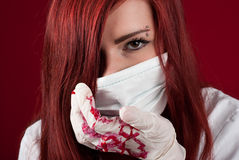 Bloody nurse Stock Image