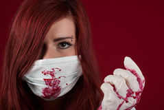 Bloody nurse Royalty Free Stock Photo