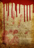 Bloody old paper. Old paper with blood spill and bloody hand print Royalty Free Stock Images