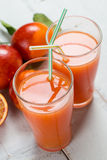 Bloody orange juice for two Stock Photo
