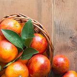 Bloody oranges in a basket Royalty Free Stock Image