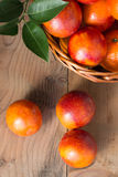 Bloody oranges in a basket Stock Images