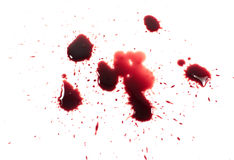 Bloody red blots Stock Image