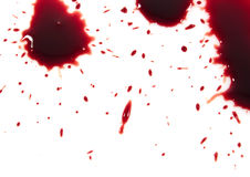 Bloody red blots Royalty Free Stock Photography
