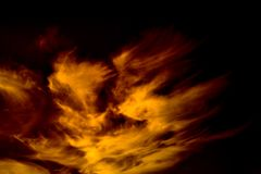 Bloody red sky. We get the colors we want from the clouds. Fantasies are not set. What is it? Heaven`s explosion or cosmic galaxy stock images
