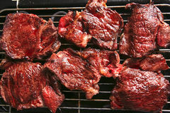 Bloody ripe meat steak Stock Image