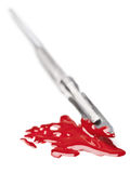Bloody scalpel Stock Photos