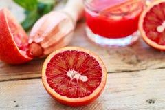 Bloody Sicilian oranges Stock Photos