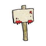 Bloody sign cartoon Stock Photos