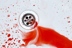 Bloody sink background Royalty Free Stock Image