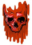 Bloody skull Stock Images