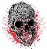 Bloody Skull illustration vector. Stock Images