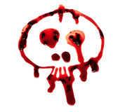 Bloody skull. On white background royalty free stock images