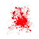 Bloody splat. Inky blood splat with a red abstract shape Royalty Free Stock Photography