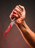 Bloody stabbing Royalty Free Stock Image