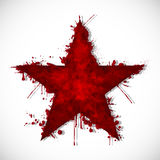 Bloody star - ink. Illustration of a bloody star on a white background Stock Images