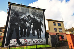 Bloody Sunday wall-paintings in Londonderry Royalty Free Stock Images