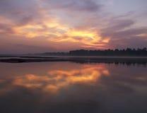 Bloody sunrise Royalty Free Stock Photography