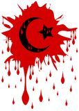 Bloody symbol of islam isolated Stock Images