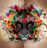 Bloody tiger abstract background Stock Photo