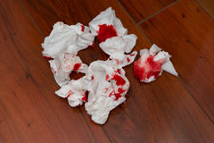 Bloody tissue Royalty Free Stock Photos