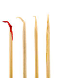 Bloody toothpick Royalty Free Stock Photos