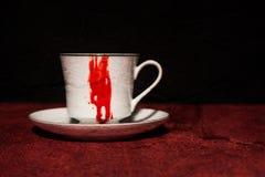 Bloody Vampire Teacup Stock Photos