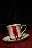 Bloody Vampire Teacup Stock Photo