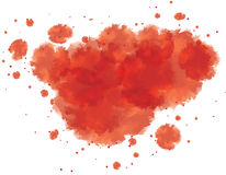 Bloody watercolor spots Royalty Free Stock Photos