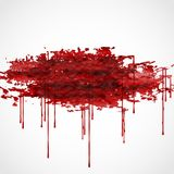 Bloody Watercolor Spots. Royalty Free Stock Image