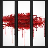 Bloody Watercolor Spots. Royalty Free Stock Photos