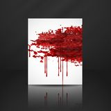 Bloody Watercolor Spots. Stock Photography