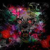 Bloody werewolf abstract background Stock Photo