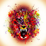 Bloody werewolf abstract background Royalty Free Stock Photos