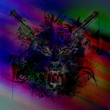Bloody werewolf abstract background Stock Photos