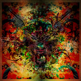 Bloody werewolf abstract background Royalty Free Stock Images