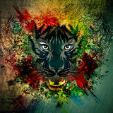 Bloody werewolf abstract background Royalty Free Stock Image
