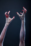 Bloody zombie hands Royalty Free Stock Images