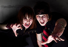 Bloody Zombies Royalty Free Stock Image