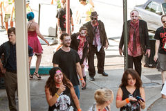 Bloody Zombies Stagger To Bars In Atlanta Pub Crawl Stock Images