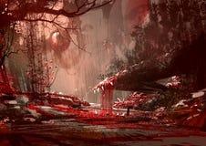 Bloodyland, Horrorlandschaft, Illustration Lizenzfreies Stockbild