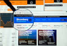 Bloomberg internet page Stock Photos