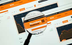 Bloomberg internet page Royalty Free Stock Photography