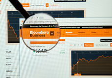 Bloomberg internet page Stock Photo