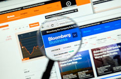 Bloomberg internet page Stock Images